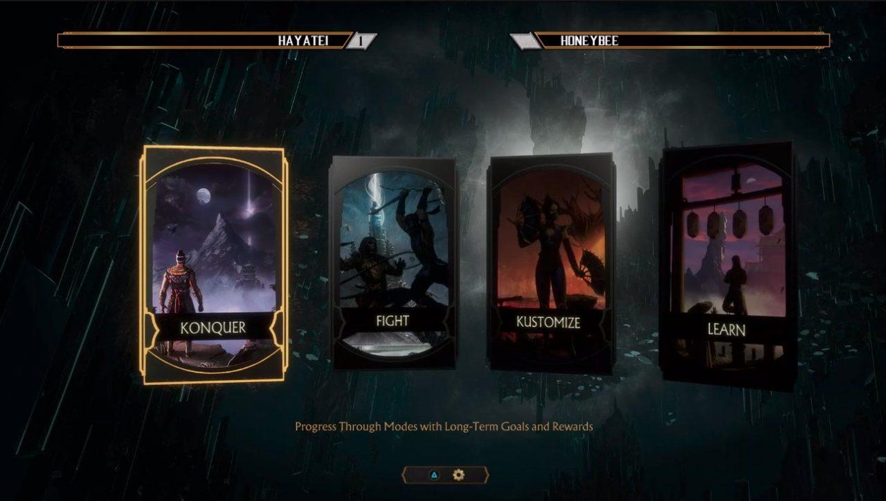 Mortal Kombat 11 - pantalla de modos de juego