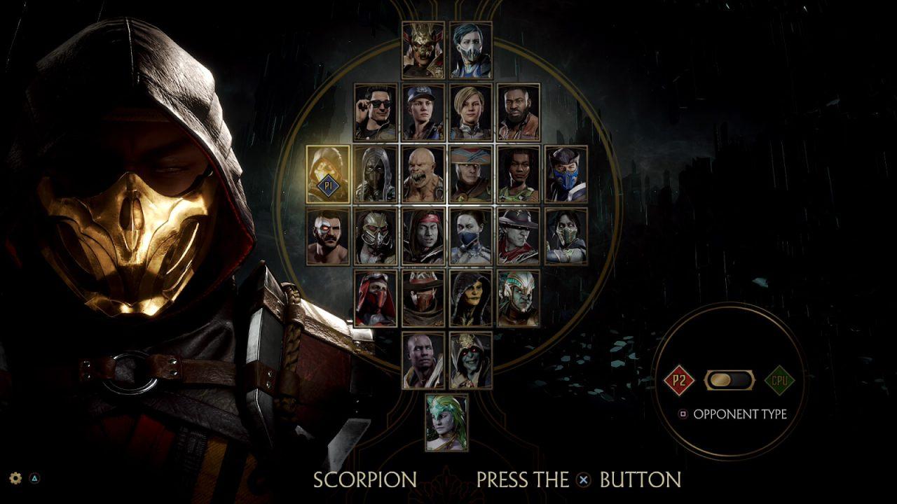 Mortal Kombat 11 - pantalla de selección de personaje
