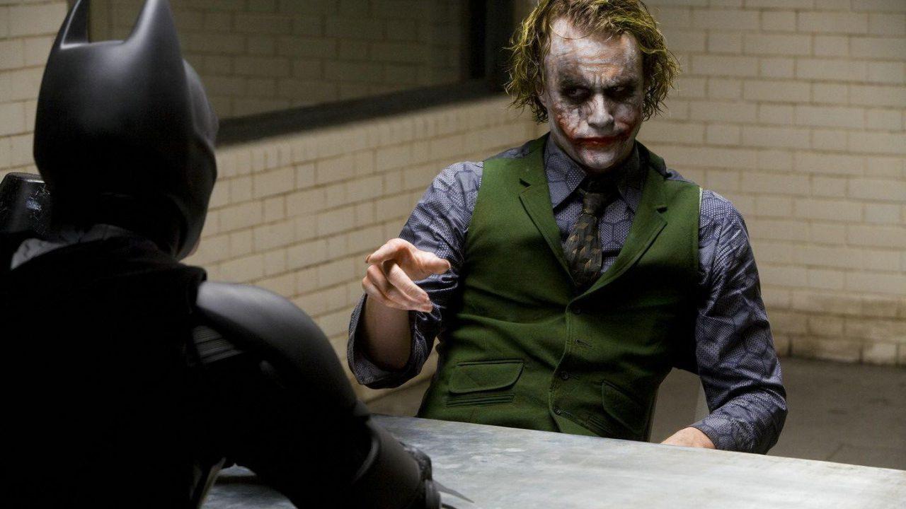 Interrogatorio al Joker, en The Dark Knight