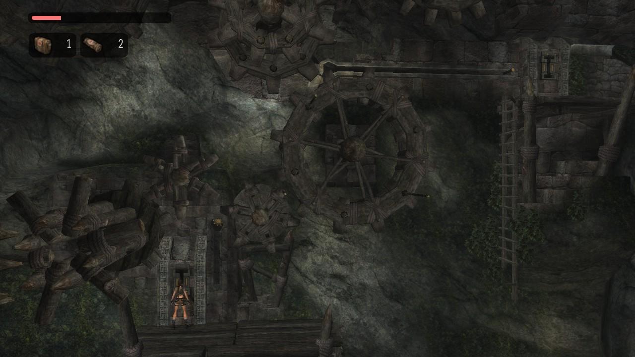 La maquinaria en el Valle Perdido aquí es enorme a comparación de cómo era en el juego original
