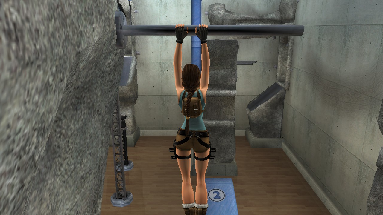 Lara tiene hasta su propio gimnasio, donde también podemos encontrar algunos secretos