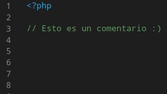 Comentario en PHP
